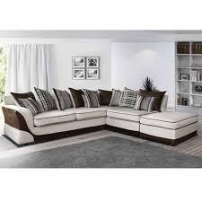 canapé d angle droit ou gauche canapé angle droit en tissu beige et marron casablanca dya shopping fr