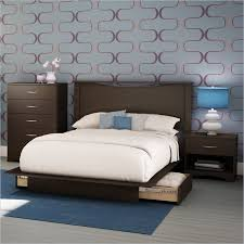 Platform Bedroom Furniture Sets South Shore Back Bay Chocolate Wood Storage Platform