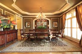 traditional dining room with hardwood floors chandelier in