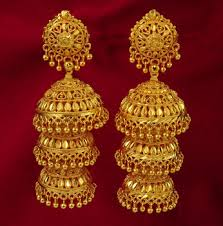 jumka earrings traditional 18k gold plated jhumka dangle earring set women ethnic