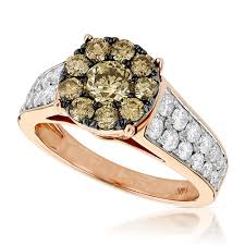 unique fashion rings images Unique engagement rings 14k gold cluster diamond ring for women jpg