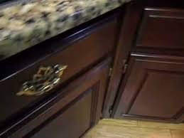 How To Touch Up Wood Cabinets Touch Up And Seal Worn Mahogany Cabinets Youtube