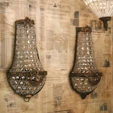 Vintage Crystal Sconces Parisian Beaded Sconces Home Decor Ideas Pinterest Venetian
