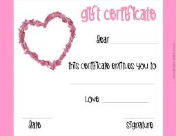 printable romantic gift certificates romantic gift certificate template 69 infantry
