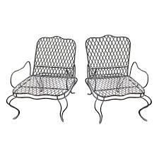 tarlow twig garden lounge chairs a pair chairish