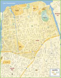 Louisiana City Map by New Orleans Gentilly Map