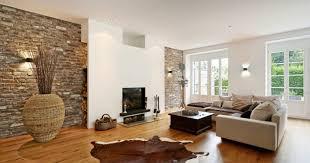 steinwand wohnzimmer gips haus renovierung mit modernem innenarchitektur kühles steinwand