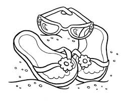 cute summer sandals coloring page 472438 coloring pages for free