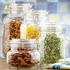 round glass jars with clamp lid kitchen accessories kitch
