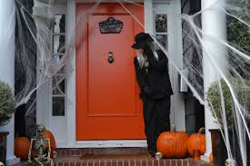 halloween outdoor interior house decor for halloween outdoor using standing ghost