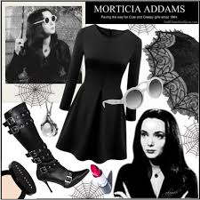 Morticia Addams Halloween Costumes Minute Halloween Costume Morticia Addams Polyvore