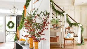 Banister Christmas Garland A Colorful Garden Of Christmas Garland Ideas Stylish Eve
