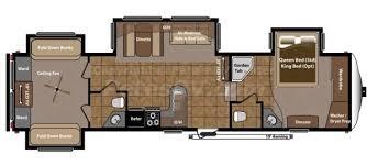 Rv 2 Bedroom Floor Plans Imposing Exquisite Two Bedroom Fifth Wheel 5th Wheel Rv 2