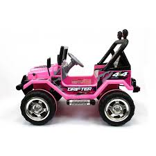 pink toy jeep xtreme 12v ride on off road 4x4 two seater jeep in pink xtreme toys