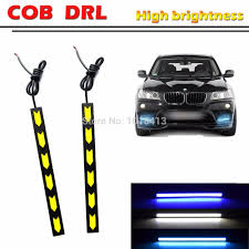 best led daytime running lights 2pcs set 12w waterproof auto car drl led daytime running lights