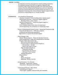Resume Of Construction Worker How To List Consulting Experience On A Resume Karl Marx