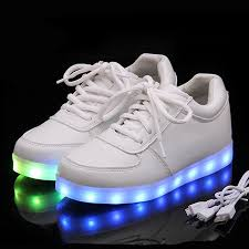 light up shoes charger kriativ usb charger lighted shoes for boy glowing sneakers kids