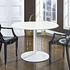 Dining Tables by Amazon Com Modway The Revolve Dining Table In White Tables