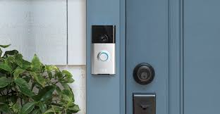 Front Door Camera System by Ring Wi Fi Enabled Video Doorbell In Satin Nickel Amazon Com
