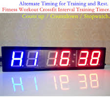 4inch fitness gym crossfit interval timer remote large led digital