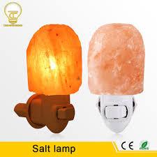 crystal plug in night light eu us plug natural himalayan salt l air purifier crystal salt