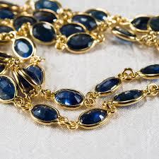 sapphire chain necklace images 47 25ctw bezel set sapphire chain 14k gold sapphire by the yard jpg