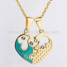 customized heart necklace engravable stainless steel heart pendant engravable stainless