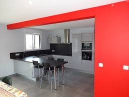 cuisine en l ouverte sur salon cuisine en u ouverte sur salon 12 idee amenagement 5 modele