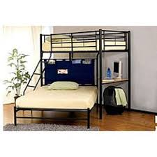 Metal Bunk Bed With Futon Coaster Max Twin Over Futon Metal Bunk Bed With Desk In Black
