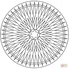 5 point star mandala coloring page free printable coloring pages