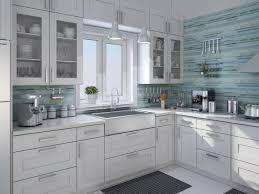 white kitchen glass backsplash white kitchen with glass tile backsplash backsplashes blue green