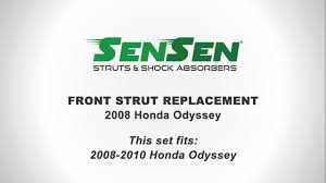 2005 honda odyssey strut assembly replacement of front struts on a 2008 honda odyssey l sensen