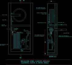 Dry Riser Cabinet Recessed Fire Cabinet Dwg Detail For Autocad U2022 Designscad