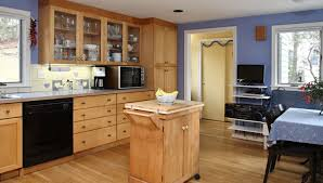 natural design of the kitchen paint color with maple cabinets and