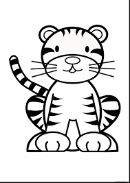 unbelievable baby tiger coloring pages printable with tiger
