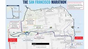 San Francisco Districts Map by Full List San Francisco Marathon Road Closures Neighborhood