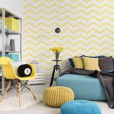 Grey Wallpaper Living Room Uk Chevron Retro Glitter Zig Zag Wallpaper By Coloroll Yellow M1144