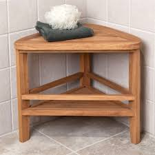 shower seats benches stools signature hardware and teak bathroom