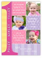 custom triplets photo u0026 dr seuss themed birthday invitations