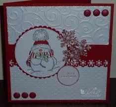 crippled crafter computer handmade snowman christmas cards u by