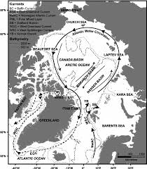 Arctic Ocean Map Map Showing The Major Surface Currents In The Arctic Ocean The