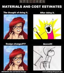 Meme Design - artidsgn materials and cost estimate meme