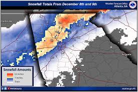 Georgia Tech Map December 8 9 2017 Heavy Snow Event