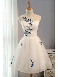 dresses graduation simple embroidery white homecoming dresses simi bridal