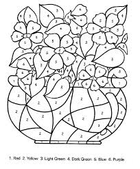 preschool coloring pages with numbers color by number coloring page color by number coloring pages