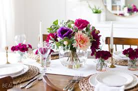 a simple and vibrant u0027s day table setting a burst beautiful