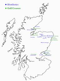 Scotch Whisky Map Whisky And Golf Tours