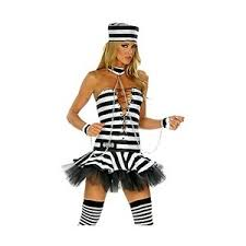 Halloween Jail Costumes Prisoner Costumes Womens Jailbird Costume Nom Plume