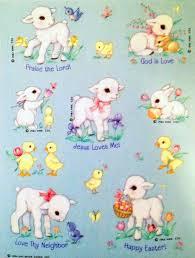 Hallmark Store Easter Decorations by Vintage Hallmark Easter Stickers Lamb Chicks Bunnies Vintage
