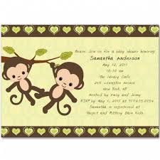 baby shower monkey baby shower party invitations bs161